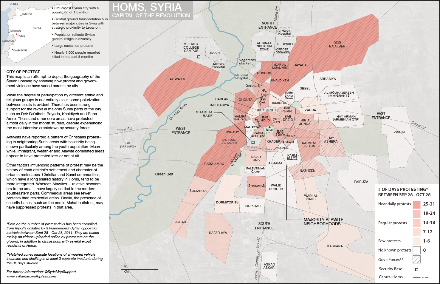 Homs Capital of the Revolution Syria Map