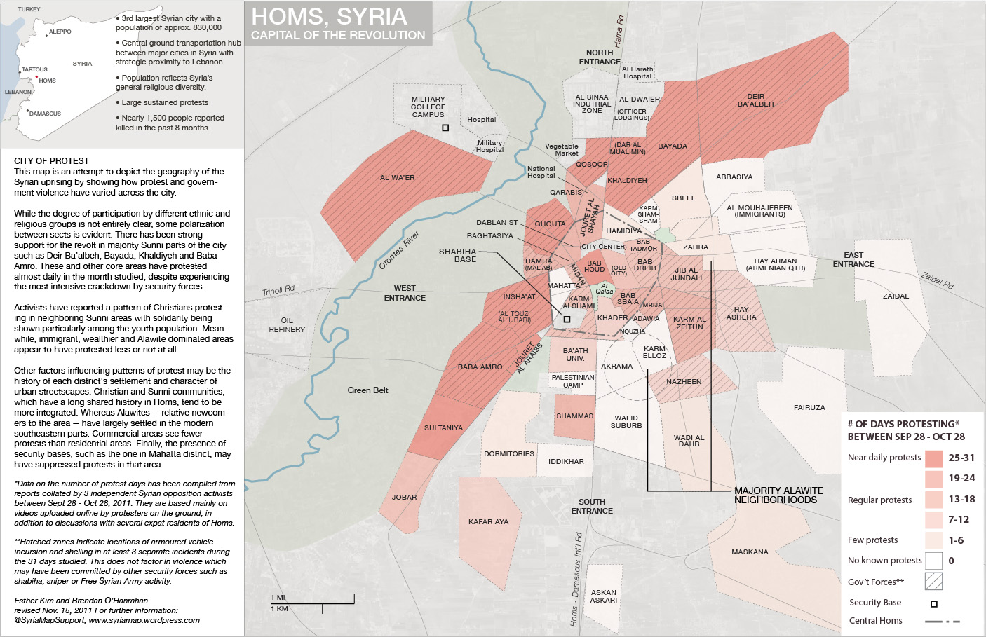 The Patterns Of Syrian Uprising Comparing Hama In And - Map of zeitoun egypt
